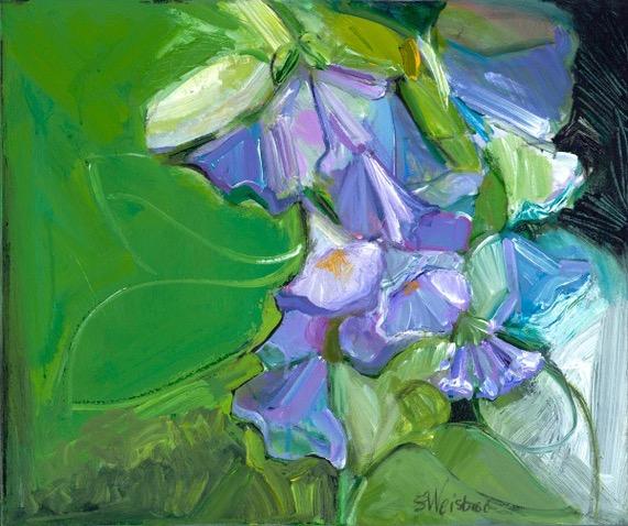 Blue Mertensia 24x24 acrylic