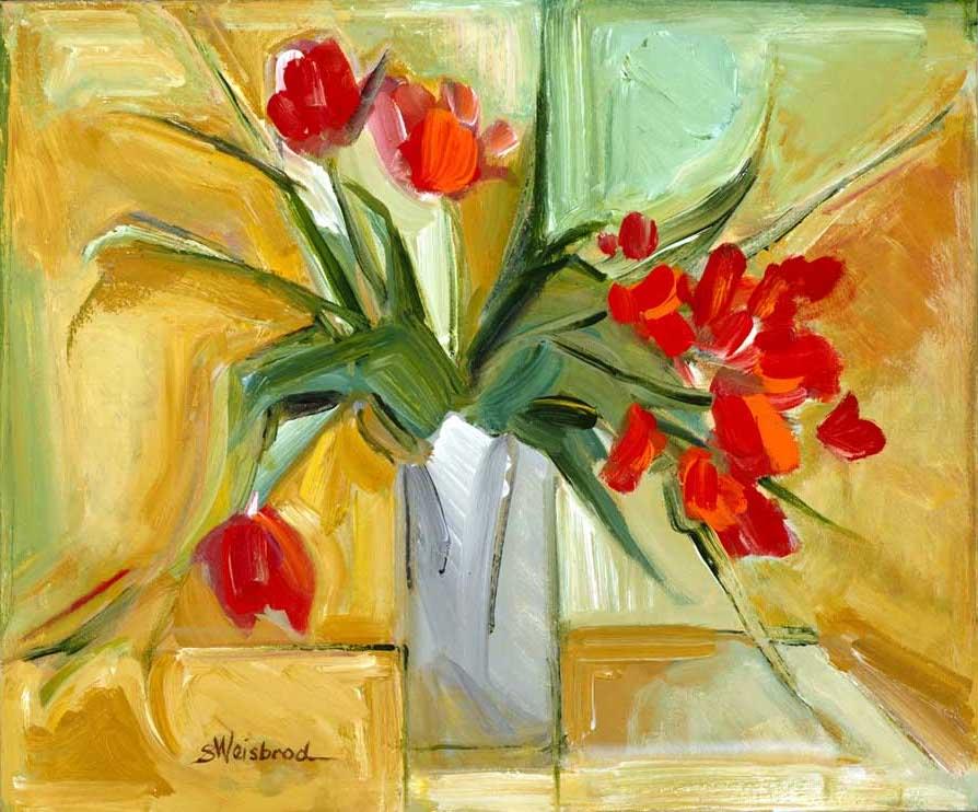 Cliff's Tulips 24x30 acrylic on canvas