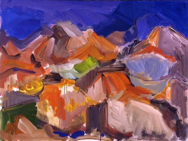 Climbing Camelback 30x40 Acrylic