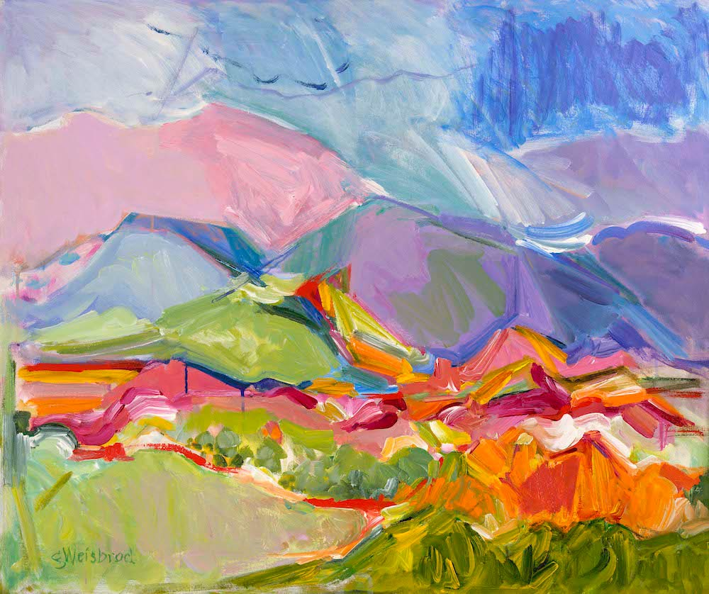 Colors in the Landscape 24x30 acrylic on canvas