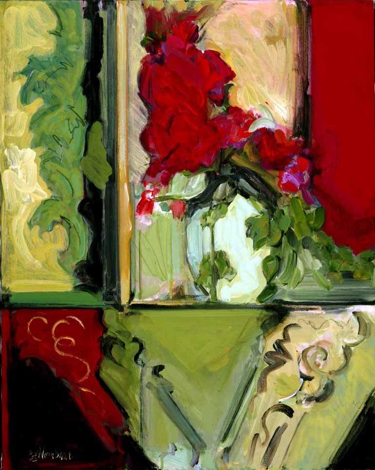 Fleurish 24x30 acrylic on canvas