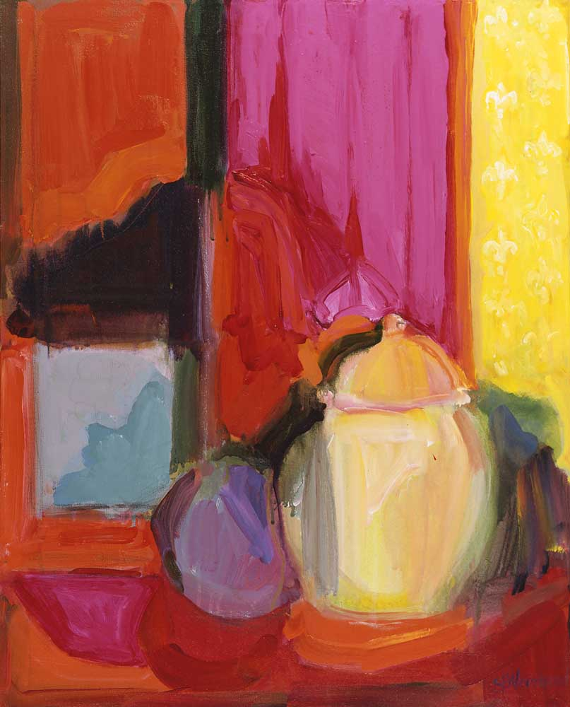 Jars with a Lid 24x30 acrylic on canvas