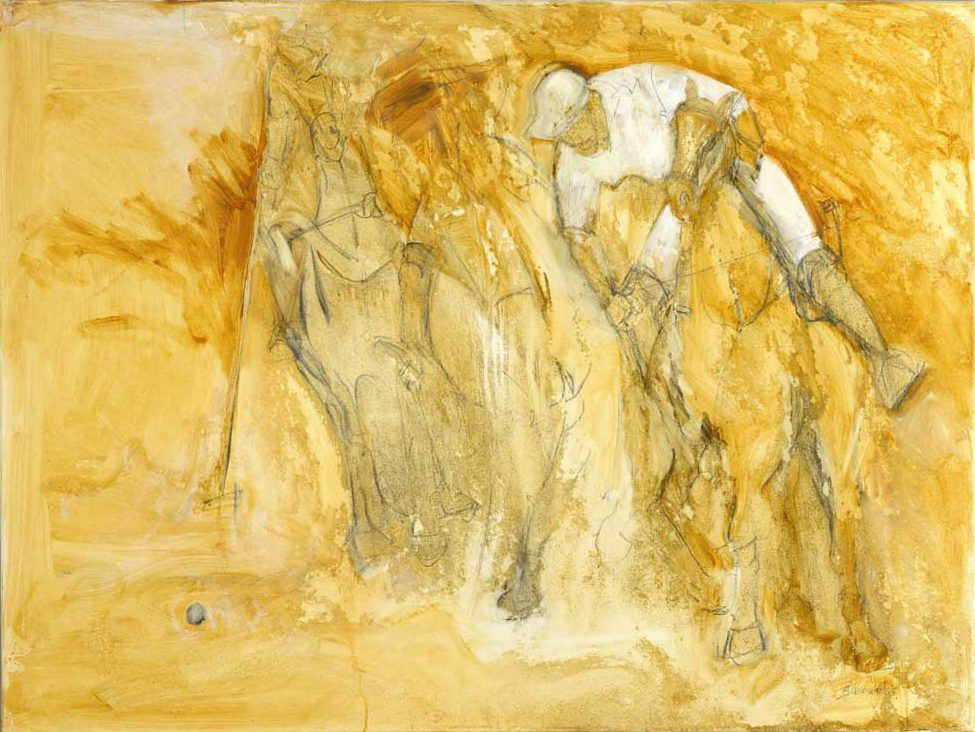 La Luz del Oro 30x40 Oil and Graphite on Canvas