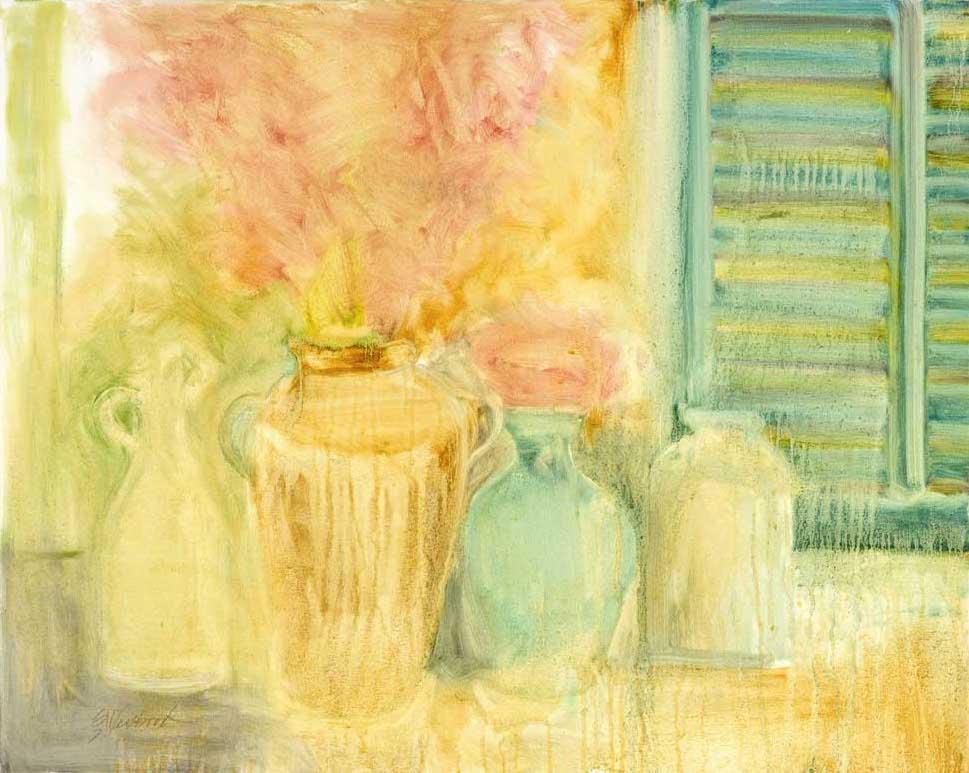 Les Poteries et les Volets 24x30 oil on canvas