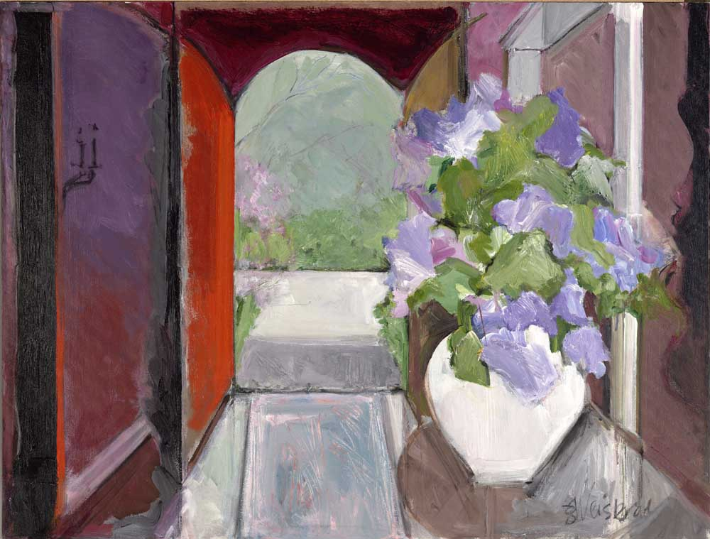 Lilacs 36x48 acrylic on canvas