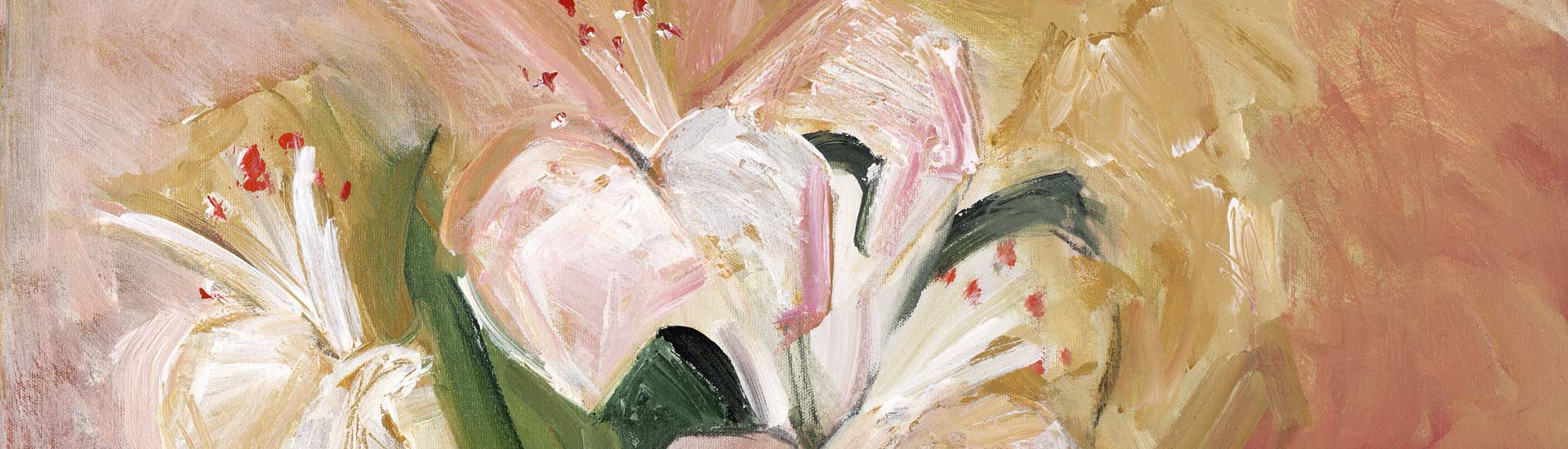 Lilies in a Green Vase