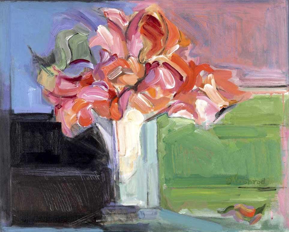 Roses 24x30 acrylic on canvas