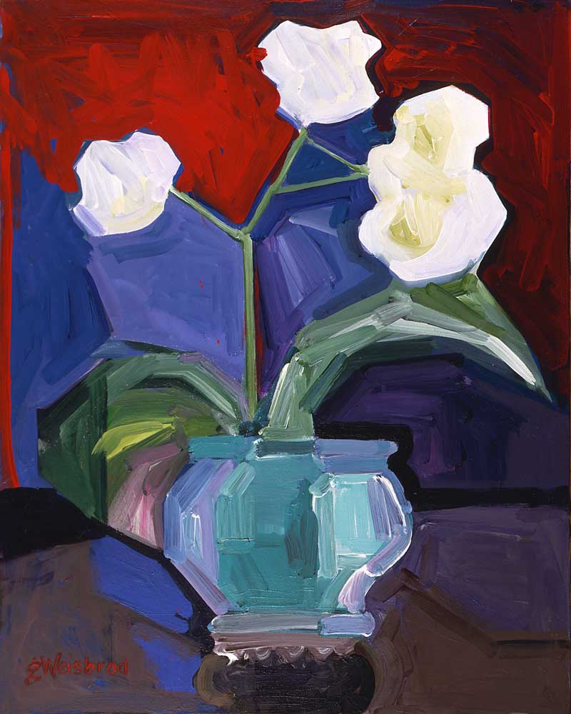 Sonnie's Orchids 30x40 acrylic on canvas