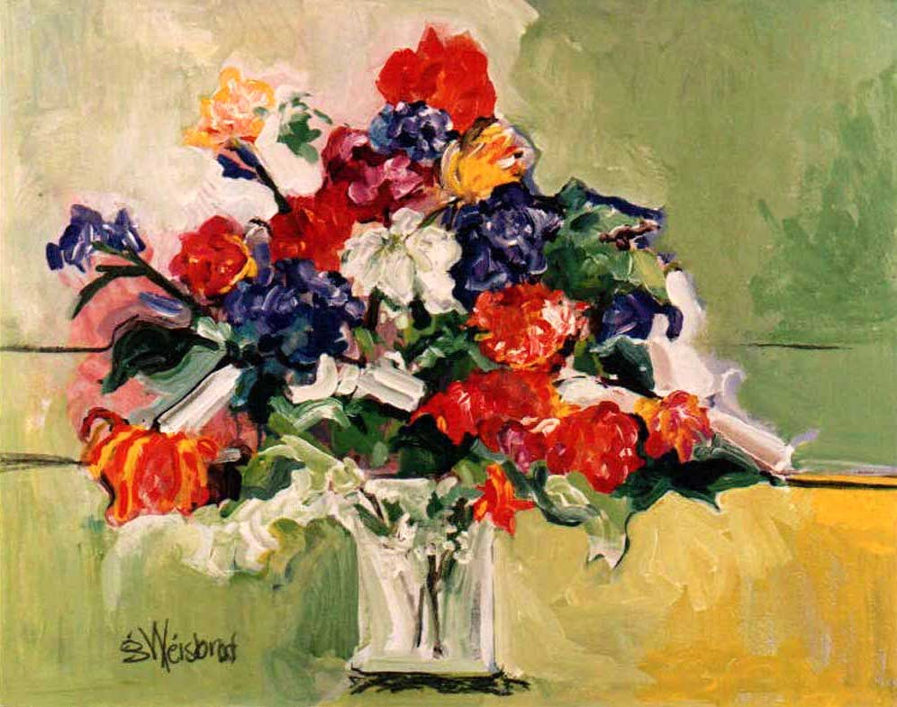 Summer Bouquet 24X30 acrylic on canvas