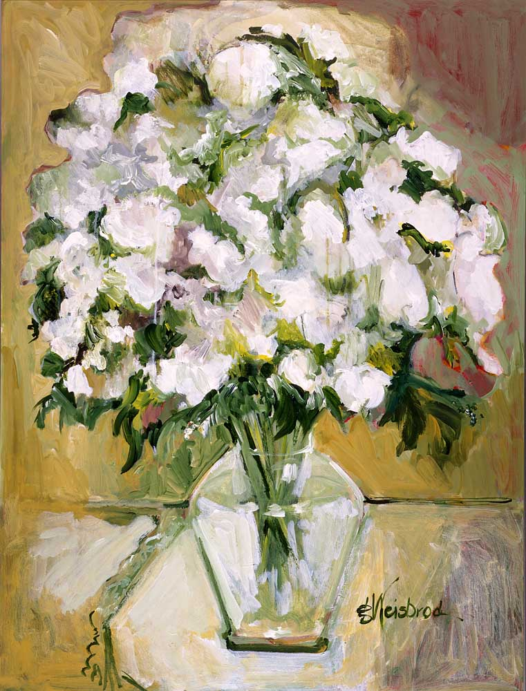 White Bouquet 30x40 acrylic on canvas